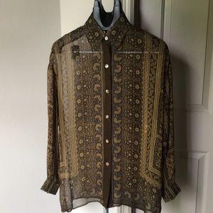 Beautiful silk blouse by Linda Allard Ellen Tracy